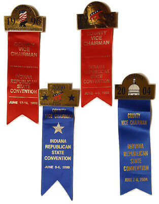 Indiana Republican State Convention Delegate Medals (4)