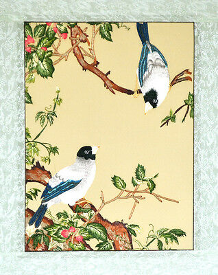 "18"" Brocaded Chinese Traditional Silk Embroidery Painting: Oriental Birds"