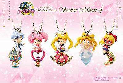 Sailor Moon Twinkle Dolly Part 4 Mini figures Complete Set (5) Bandai Candy Toy