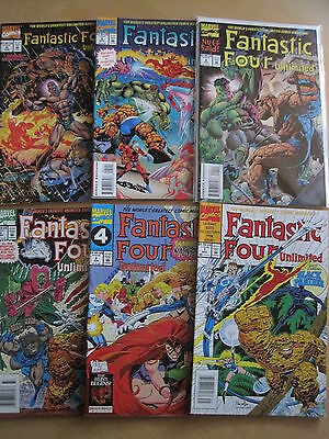 FANTASTIC FOUR UNLIMITED COMPLETE RUN of ISSUES 1,2,3,4,5,6,7,8. MARVEL.1993
