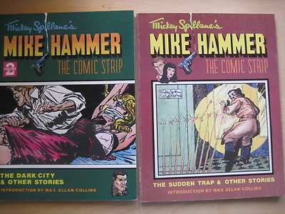 MICKEY SPILLANE'S MIKE HAMMER Vols 1 & 2.M.A.COLLINS.OUTSIZE GRAPHIC COLLECTIONS
