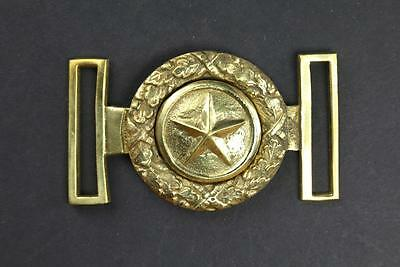 US Civil War Confederate South Texas Star Officers Brass Sword Belt Spoon Buckle