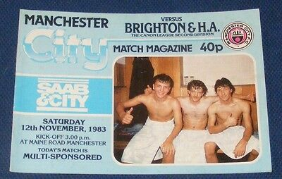 Manchester City Home Programmes 1983-1984