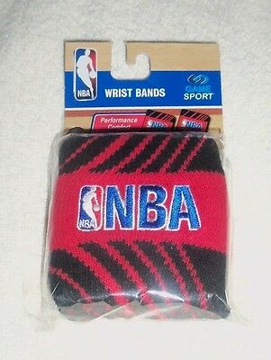 NBA : Red and Black Wristbands - Pack of 2 - New