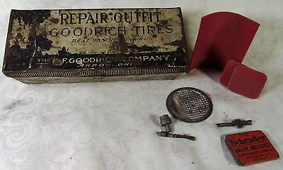 Original BF GOODRICH Tires Repair Outfit Advertising Tin Box Rare W-Patches Ect