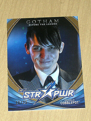 2017 Cryptozoic Gotham sea 2 character bio STR PWR GOLD Oswald Cobblepot CB14/25