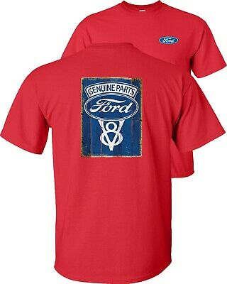 Genuine Parts Ford V8 Motor Company Blue Vintage T-Shirt