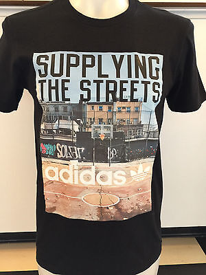 Adidas Street Supplier Black Graphic Tee T Shirt Mens Size Xx Large Nwt