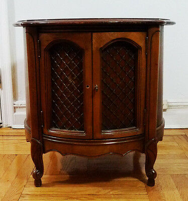 Vintage Antique Wooden Round Cabinet End Side Table (Local Pickup Only)