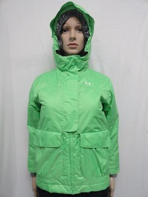Youth's Under Armour Light Green Performance ColdGear Hooded Jacket Size YSM