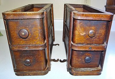 Antique Wood Sewing Maching Cabinet Doors 4 Drawers With Frames
