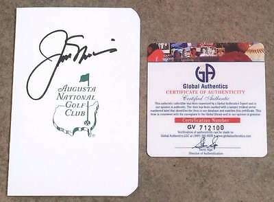 Jack Nicklaus Autographed Masters Golf Scorecard  Mint 100% Certified Authentic