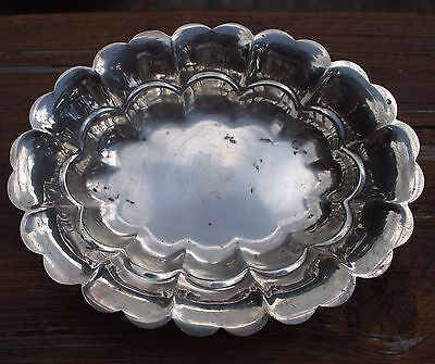 Beautiful Antique Solid Sterling Silver Fruit Candy Bowl