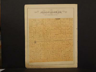 Illinois Mercer County Map Millersburg Township  1870   L7#23