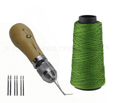 JCP Leather Canvas Tent Sewing Awl Quick Stitch Repair Tool Heavy Duty Thread