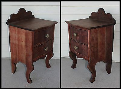 ONE Mahogany Bed Night Stand Easy Chair Table 2 Drawer Jewelry Cabinet Antique