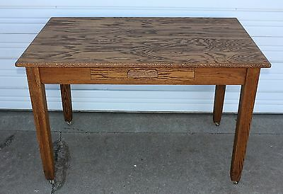OAK Arts & Crafts Mission Library Desk Hall Office Conference Table Antique OLD