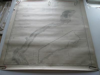 "Original 1913 Usc&Gs Nautical Chart #126,  ""Delaware River-Penns Neck To Philly"""
