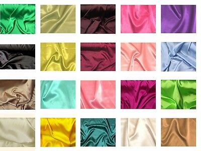 "20% Stretch Charmeuse Satin Polyester Fabric 58"" to 60"" Wide By The Yard"