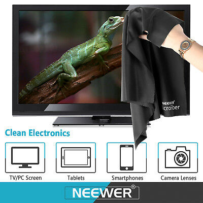 Neewer Black and Grey 4-Piece Gentle Microfiber Cleaning Cloth for Camera Lens