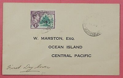 1939 Gilbert & Ellice Islands Kgvi Fdc Cover