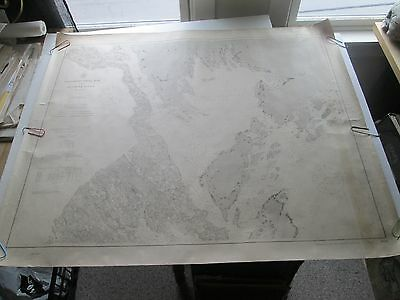 "Original 1913 Usc&Gs Nautical Chart #300, ""Passamaquoddy Bay & St Croix River"""
