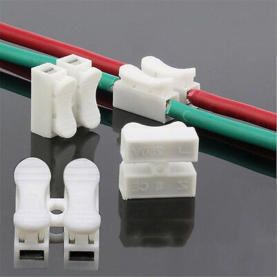 30Pcs Self Locking Quick Splice Lock Wire Terminals Electrical Cable Connectors