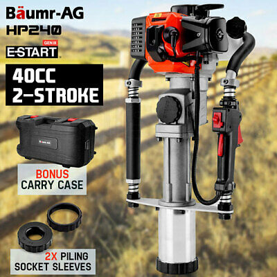 NEW Baumr-AG Petrol Post Driver - 40cc 2-Stroke Pile Star Picket Rammer Fence