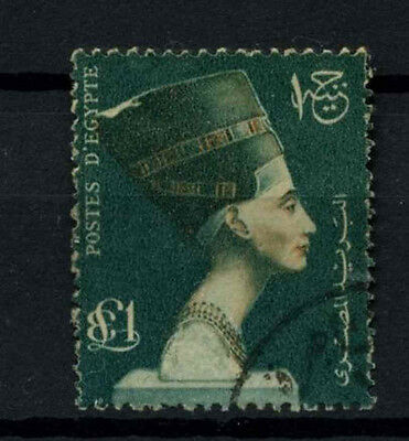 Egypt 1953-6 SG#432, £1 Queen Nefertiti Used #D46850