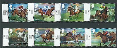 Great Britain 2017 Racehorse Legends Set Of 8 With Positions Unmounted Mint, Mnh