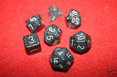 Chessex Speckled Ninja Polydice dice Set