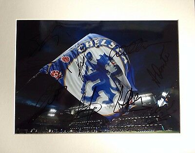 Chelsea F.c. - Superb Colour Mounted Photograph Display - With 9 Team Signatures