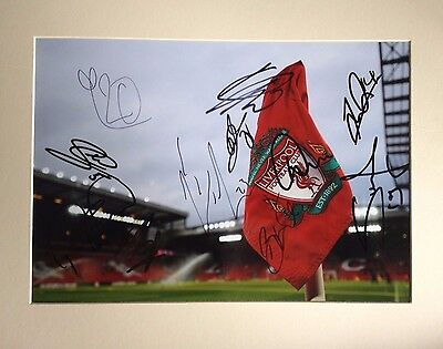 Liverpool - Superb Colour Mounted Photo Display - With 11 Team Signatures