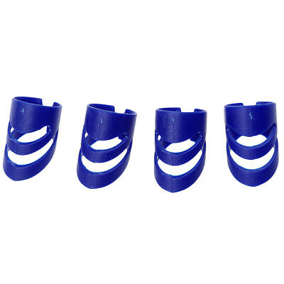 4x Guitar Ukulele Thumb Bass Fingertip Guards Finger Picks Protectors Blue L