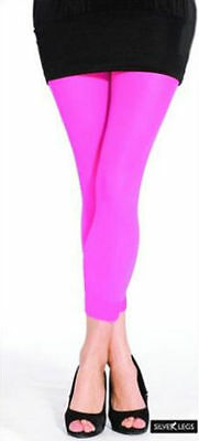 Ladies Womens 50 Denier Opaque Footless Tights - Lots Of Colours -  One Size