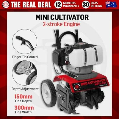 BBT Mini Tiller Cultivator - Turn up soil 150mm deep, Cutting up to 300mm wide