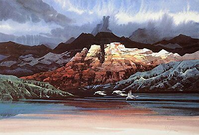 Michael Atkinson Print Mountain Lake Signed Numbered Limited Edition Mint / COA