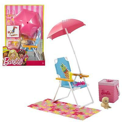 Barbie - Outdoor Furniture - Beach Tour Set & Accessories