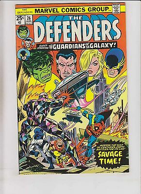 Defenders #26 VF- early guardians of the galaxy - steve gerber - sal buscema