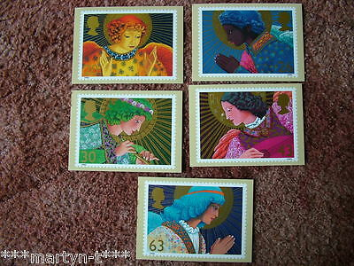 PHQ Stamp card set No 202 Christmas 1998. 5 card set.  Mint Condition.