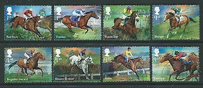 Great Britain 2017 Racehorse Legends Set Of 8 Fine Used