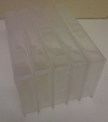 5 Empty Vhs Clear Video Tape Cases New