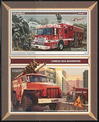 Mozambique 2017  Fie Trucks    Souvenir Sheet  Mint Nh