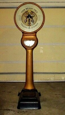 VINTAGE TOLEDO LOLLIPOP Jockey Scale-No Springs-Pat Date 1919-Your Weight  Free