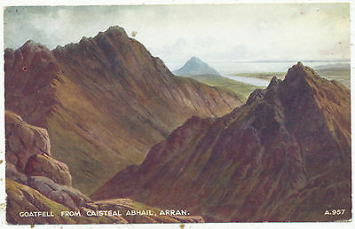 Goatfell from Caisteal Abhail, Arran, 1951 postcard