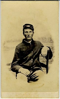Cdv- Civil War –Union  Soldier