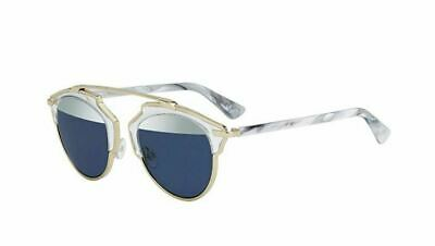 f1eaee7e3a New Christian Dior SO REAL 1TL 90 Crystal White Marble Silver Blue  Sunglasses