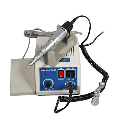 Dental Lab Marathon Electric Micromotor W/ Contra Angle Straight Handpiece Kits