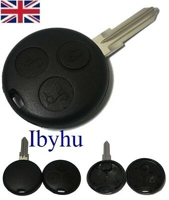 Smart Car 3 Buttons Remote Key Fob Case For City Roadster Fortwo Forfour Coupe