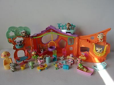 LITTLEST PET SHOP - MAISON CLUB DE DETENTE + FIGURINES + ACCESSOIRES -n°11-